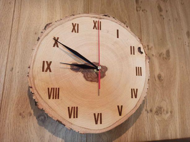 Zegar drewniany ścienny