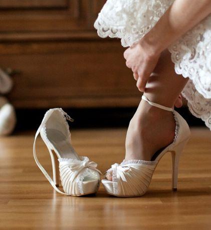Свадебные белые туфли. Размер 36. Отличное состояние