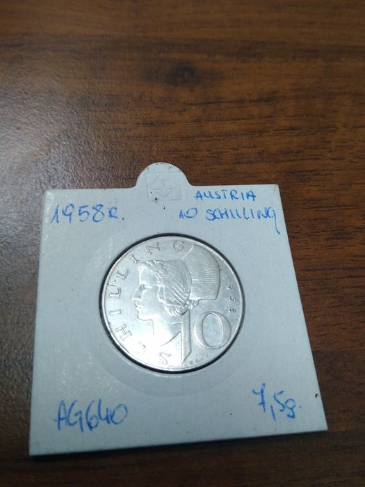 10 schilling Austria 1957 ,1958 srebro Stargard - image 1