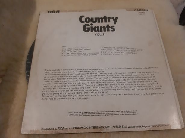 Country Giants vol 2 płyty winylowa