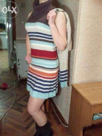 Трикотажное платье(комплект)