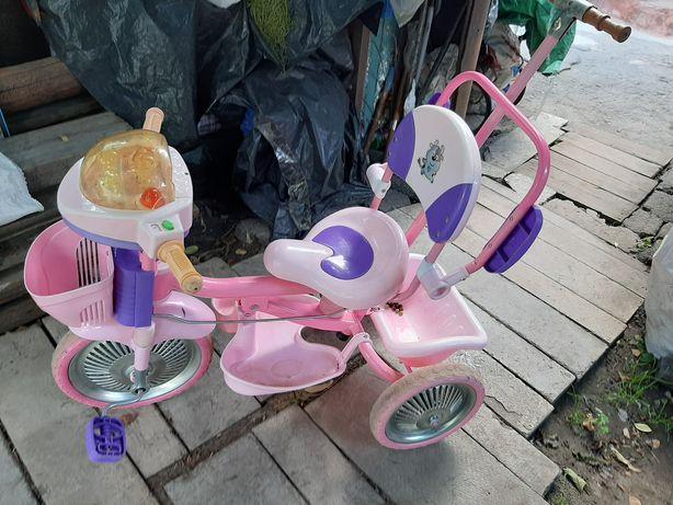 Продам Срочно велосипед для девочки с ручкой родительский контроль