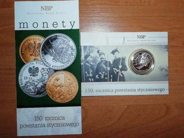 10zł moneta 150 rocznica powstania styczniowego
