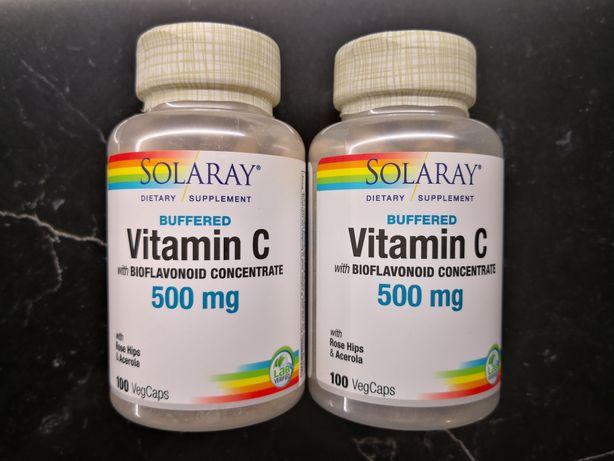 Вітамін С забуферений з біофлавоноїдами (США). Solaray, 500 мг 100 кап