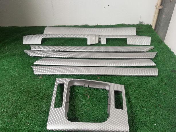 Frisos bmw E46 Pack M original cinza prata rigorosamente novos