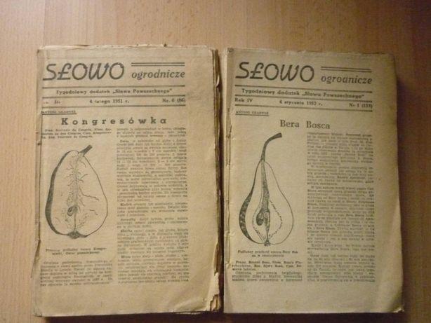 Czasopismo Słowo ogrodnicze zestaw 2x 1951