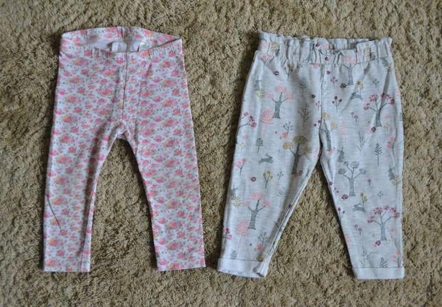 Spodnie r.80; komplet/zestaw, 2 szt. za 8 zł