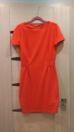 Sukienka Orsay czerwona dzianinowa zima jesień