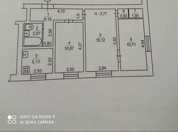 Продается 3к квартира, сталинка, р-н Нового рынка