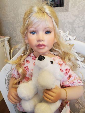 фарфоровая кукла 85см коллекционная