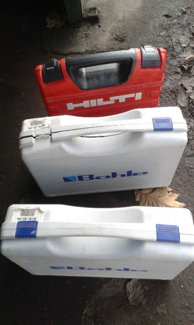 Pudełka sktrzynki po maszynach budowlanych opakowania hilti bohle