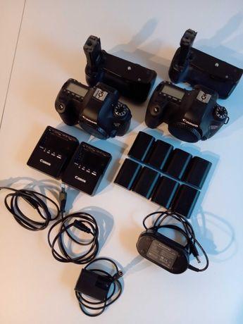 Canon 6D + 4 obiektywy + grip + adapter zasilający + 4kpl baterii