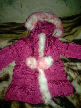 Пуховик куртка курточка зимняя на девочку