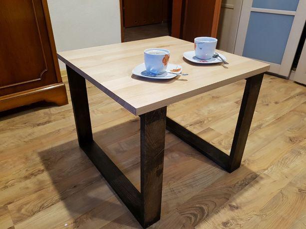 Nowy stolik kawowy - lite drewno