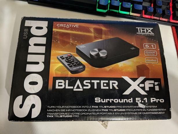 Звуковая карта Creative sound blaster X-FI 5.1 Pro