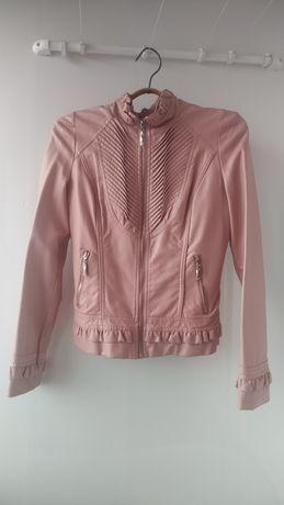 Продам розовую  куртку кожзам хорошего качества