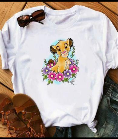 Koszulka bluzka t-shirt Disney postacie Król lew Simba Midasa Timon pu