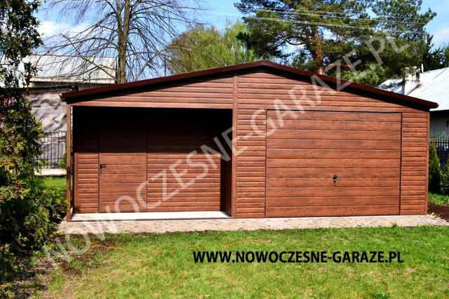 Blaszane garaże! Nowość! Imitacja drewna!
