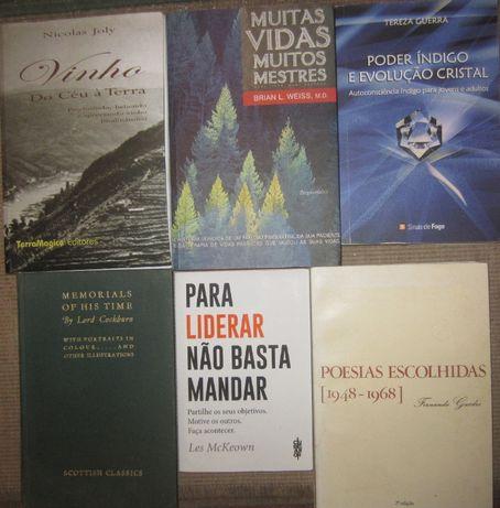 Livros, Muitas Vidas Muitos Mestres, Liderança, Indigo e Cristal, etc