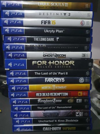 Gry Ps4 the last of us, far cry, call of duty i inne