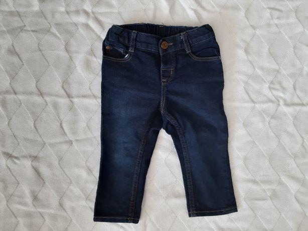 Granatowe spodnie jeansowe Roz 80