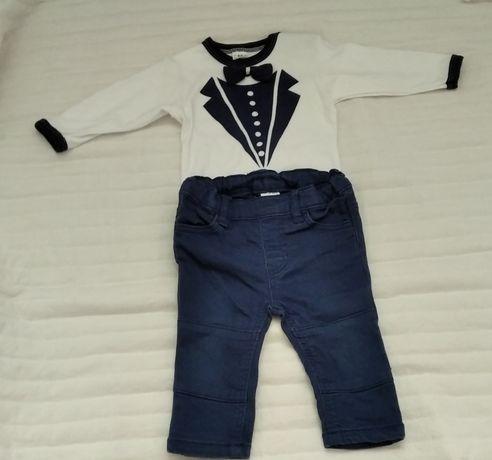 Zestaw eleganckie body ze spodniami