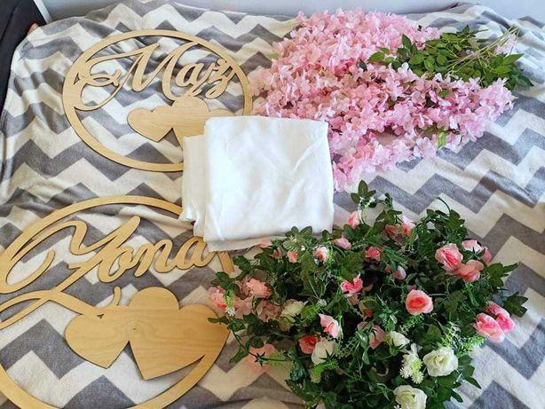 Dekoracje ślubne, kwiaty ozdobne