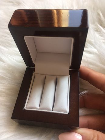 Pudełko drewniane na obrączki