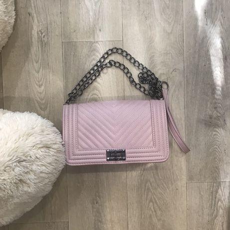 Сумка сумочка пудрово розовая в стиле шанель бой chanel
