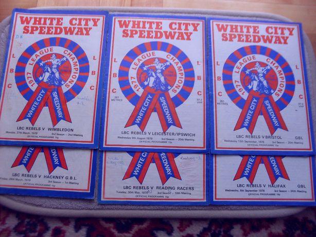 Speedway-żużlowe programy White City 1978 (M.Cieślak,A.Jurczyński)