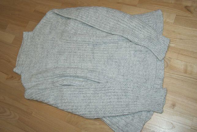 Heine szary sweter ciepły ażurowy 42/44