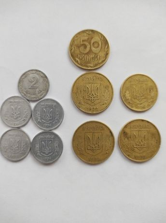 Монеты и купюры.