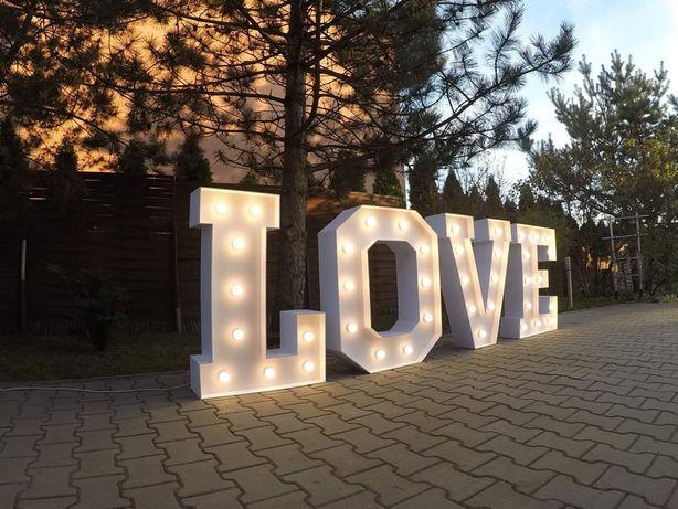 Napis LOVE, stół LED, Candy Bar, Słodki Stół, fontanna, WYNAJEM