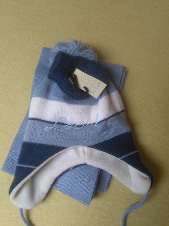 nowy komplet czapka szalik rękawiczki