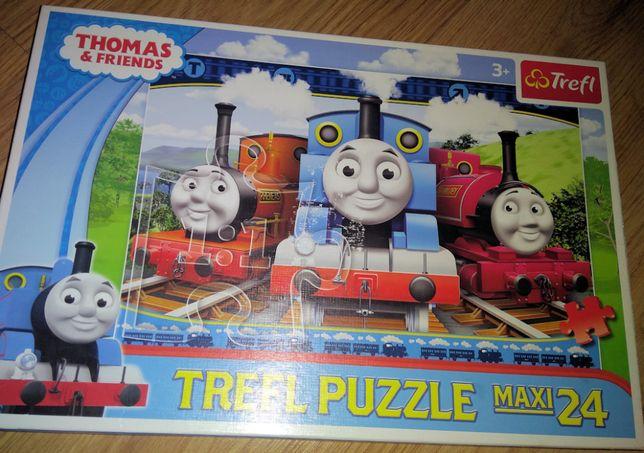 Puzzle Tomek i przyjaciele 24 szt, duze puzzle dla malych raczek