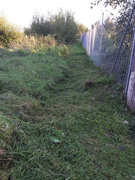 Wykaszanie traw, nieużytków, prace porządkowe po budowie.