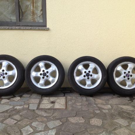 4 jantes saab 5x110 com pneus