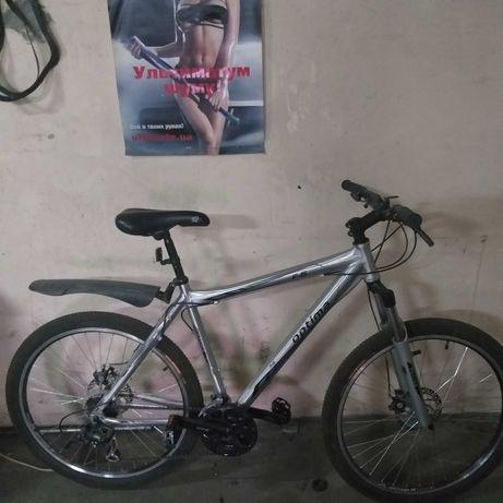 Велосипед OPTIMA алюминиевая рама,,,практически новый,