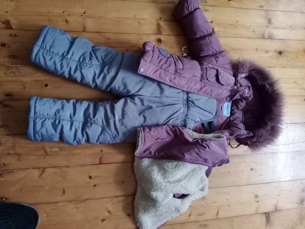 Комбинезон, куртка, жилет зимние в хорошем состоянии