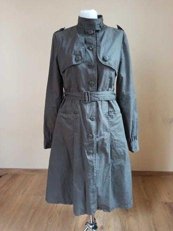 Ponadczasowy ciemno zielony płaszcz w stylu palta r. 40, L