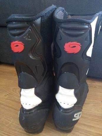Buty motocyklowe SIDI roz 45 (zawyżona) długość wkładki 32cm