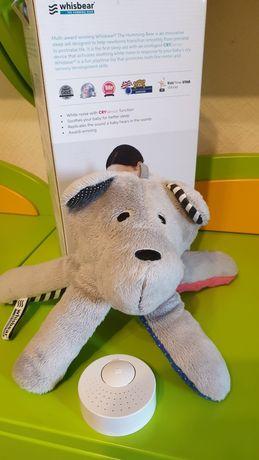 Медвежонок whisbear белый шум, игрушка для сна, шумелка, оригинал.