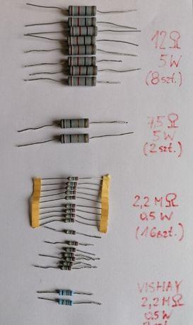 Oporniki metalowo-tlenkowe (bezindukcyjne) 5W zestaw Vishay, ROYAL OHM