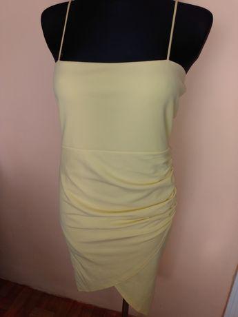 Cytrynowa sukienka l/xl