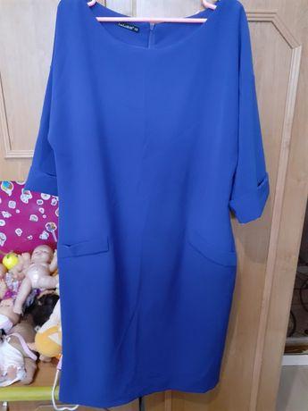 Женское платье  насыщенного синего цвета