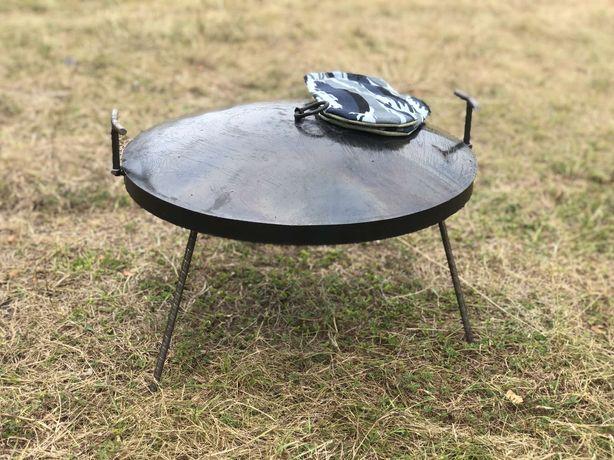Сковорода з диску борони 50 см лопатка в подарунок мангал, шампура