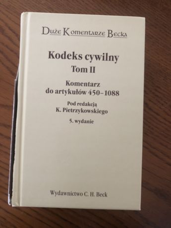 Kodeks cywilny Tom II komenatrz pod redakcją K. Pietrzykowskiego