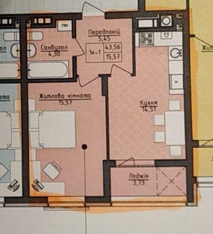 1 кім квартира в новобудові на вул. Малоголосківська