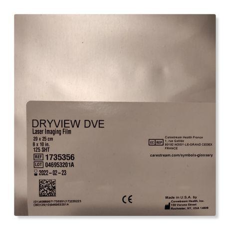 Klisze do drukarki laserowej Carestream 20x25 cm DVE