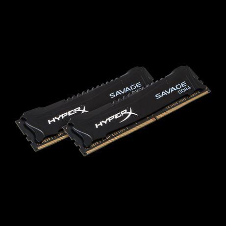 HyperX DDR4 (4x8GB) 2400 Mhz Savage Black (HX424C12SB2K2/16)